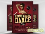 Homecoming Flyer Template Flyer Template Homecoming Dance 2017 2 Nitrogfx