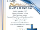 Homecoming Flyer Template Homecoming Family Friends Day Eastern Diocese