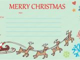 Homemade Christmas Gift Certificates Templates Christmas Gift Certificates Templates Invitation Template