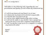 Homework Contract Template Homework Parents Bishop Bridgeman School Bolton