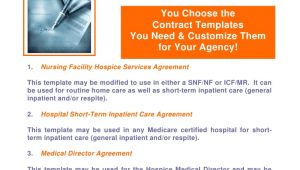 Hospice Contract Templates Microsoft Word Contract Packets Flyer