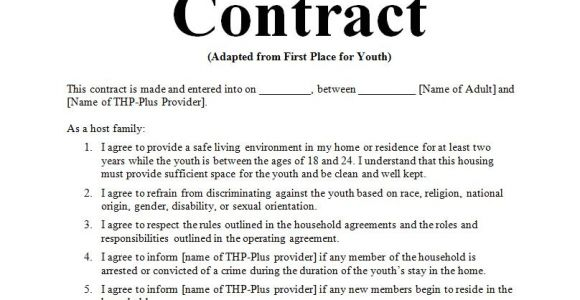 Host Family Contract Template 6 Examples Of Host Family Agreement Contract Word Doc