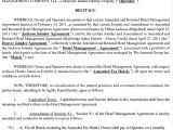 Hotel Management Contract Template Hotel Management Agreement Contract Sample Contracts