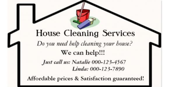 House Cleaning Business Cards Templates Free Cleaning Services Business Card Templates Bizcardstudio