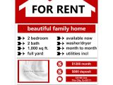 House for Rent Flyer Template Free Flyer Example for Rent