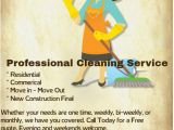 Housekeeping Flyer Templates Free Copy Of Professional Cleaning Service Flyer Postermywall