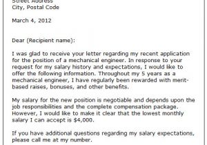 How to Address Salary Requirements In Cover Letter Letter Of Salary Free Printable Documents