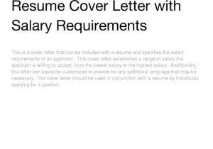 How to Address Salary Requirements In Cover Letter Salary Expectations Cover Letter Resume Badak