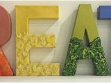 How to Cover Paper Mache Letters Create Paper Mache Letter Fun Part 1 Think Crafts by