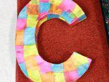 How to Cover Paper Mache Letters Diy Tutorial Paper Mache 3d Letters A Sharper Focus Blog