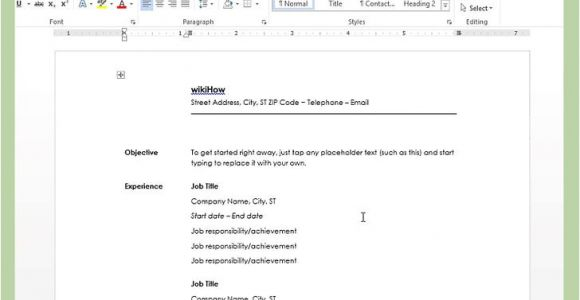 How to Create A Cv Template In Word How to Create A Resume In Microsoft Word with 3 Sample