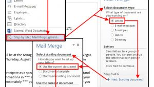 How to Create A Mail Merge Template Mail Merge Master Class How to Merge Your Excel Contact
