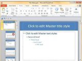 How to Create A Master Template In Powerpoint Save Design Template In Powerpoint 2010 the Highest