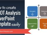 How to Create A Presentation Template In Powerpoint How to Create Swot Analysis Powerpoint Template Easily