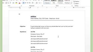How to Create A Resume Template On Word How to Create A Resume In Microsoft Word with 3 Sample