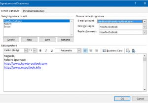 How to Create An Email Signature Template In Outlook 2010 Creating Using and Managing Signatures Howto Outlook