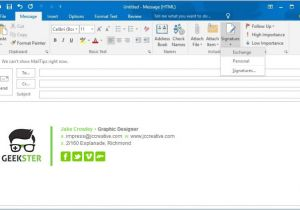 How to Create An Email Signature Template In Outlook 2010 How to Create A Signature In Outlook