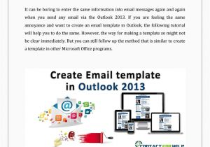 How to Create An Email Template In Outlook 2013 Create An Email Template In Outlook 2013 by Lisa Heydon
