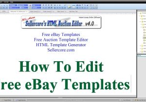 How to Create Ebay Listing Template How to Edit Free Ebay Templates for Beginners Step by Step