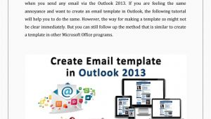 How to Create Email Templates In Outlook 2013 Create An Email Template In Outlook 2013 by Lisa Heydon