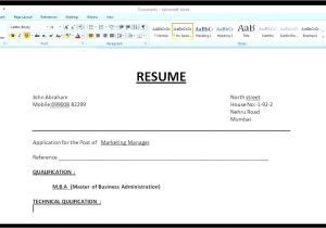 How to Create Simple Resume format How to Make A Simple Resume Cover Letter with Resume