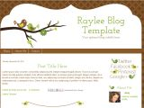 How to Customize A Blogger Template Bird Blogger Template Raylee