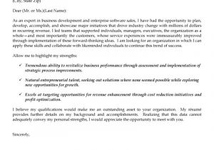 How to Do A Great Cover Letter Business Development and software Sales Cover Letter Great