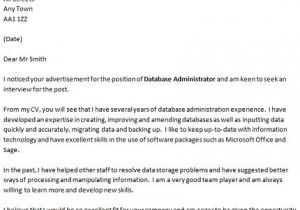 How to Do A Great Cover Letter Database Administrator Cover Letter Example Icover org Uk