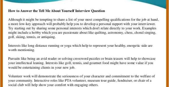 How to Explain Your Resume During A Job Interview 5 6 Tell Me About Yourself Interview Examples Cvideas