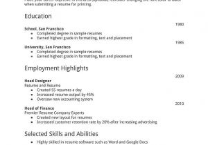 How to format A Basic Resume Resume Templates You Can Download for Free Job Resume