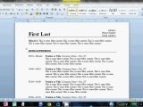 How to Keep Resume format On Word How to Make An Easy Resume In Microsoft Word Youtube