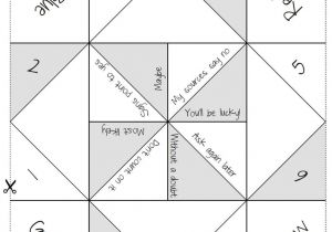 How to Make A Chatterbox Template 7 Best Images Of fortune Teller Template Printable Paper