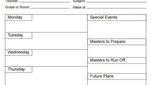 How to Make A Lesson Plan Template In Word 5 Free Lesson Plan Templates Excel Pdf formats