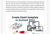 How to Make A Template Email In Outlook Create An Email Template In Outlook 2013 by Lisa Heydon