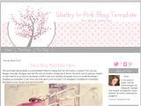 How to Make Blogger Templates Blogger Blog Template Pink Heart Blog Template Shelby Pink