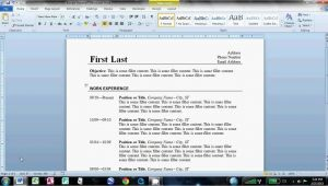 How to Make Resume format Word How to Make An Easy Resume In Microsoft Word Youtube