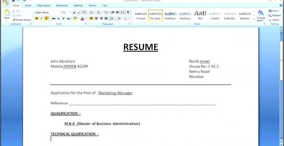 How to Make Simple Resume format How to Make A Simple Resume Cover Letter with Resume