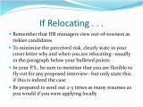 How to Mention Relocation In A Cover Letter Resumes and Cover Letters