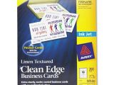 How to Use Avery Business Card Templates In Word Avery 8873 Clean Edge Inkjet Business Card Jet Com