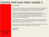 How to Write A Cover Letter for A Chef Job Commis Chef Cover Letter