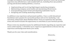 How to Write A Cover Letter for A Marketing Job Best Marketing Cover Letter Examples Livecareer