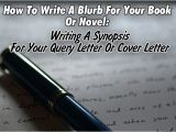 How to Write A Cover Letter for A Novel How to Write A Blurb for Your Book or Novel Writing A