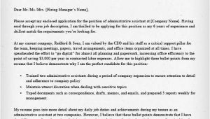 How to Write A Cover Letter for Administration Administrative assistant Executive assistant Cover
