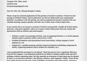 How to Write A Cover Letter for Administrative assistant Position Administrative assistant Executive assistant Cover