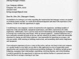 How to Write A Cover Letter for Construction Job Construction Cover Letter Samples Resume Genius