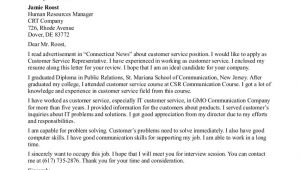 How to Write A Cover Letter for Customer Service Representative Service Letter format Best Template Collection