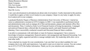 How to Write A Cover Letter for Entry Level Position Entry Level Cover Letter Sample Sample Cover Letters
