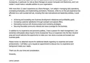 How to Write A Cover Letter for Management Position Best Store Manager Cover Letter Examples Livecareer