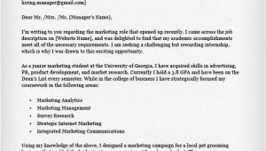 How to Write A Cover Letter for Marketing Internship Internship Cover Letter Sample Resume Genius