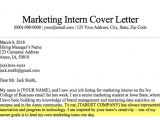 How to Write A Cover Letter for Marketing Internship Marketing Intern Cover Letter Sample Guide Resume